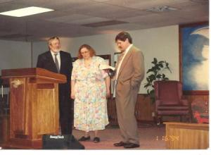 last chruch service before they left in Jan 1994 c